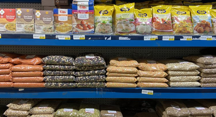 Grocery store shelf